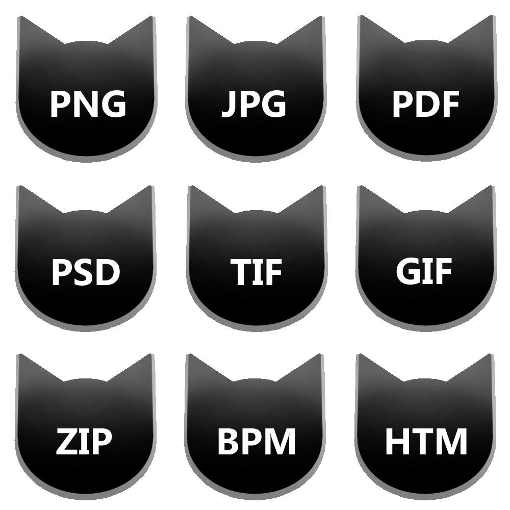 アイコンボタンセット6ブラック