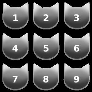 アイコンボタンセット7グレー