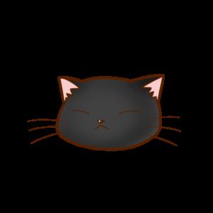 猫イラストまんじゅう黒B