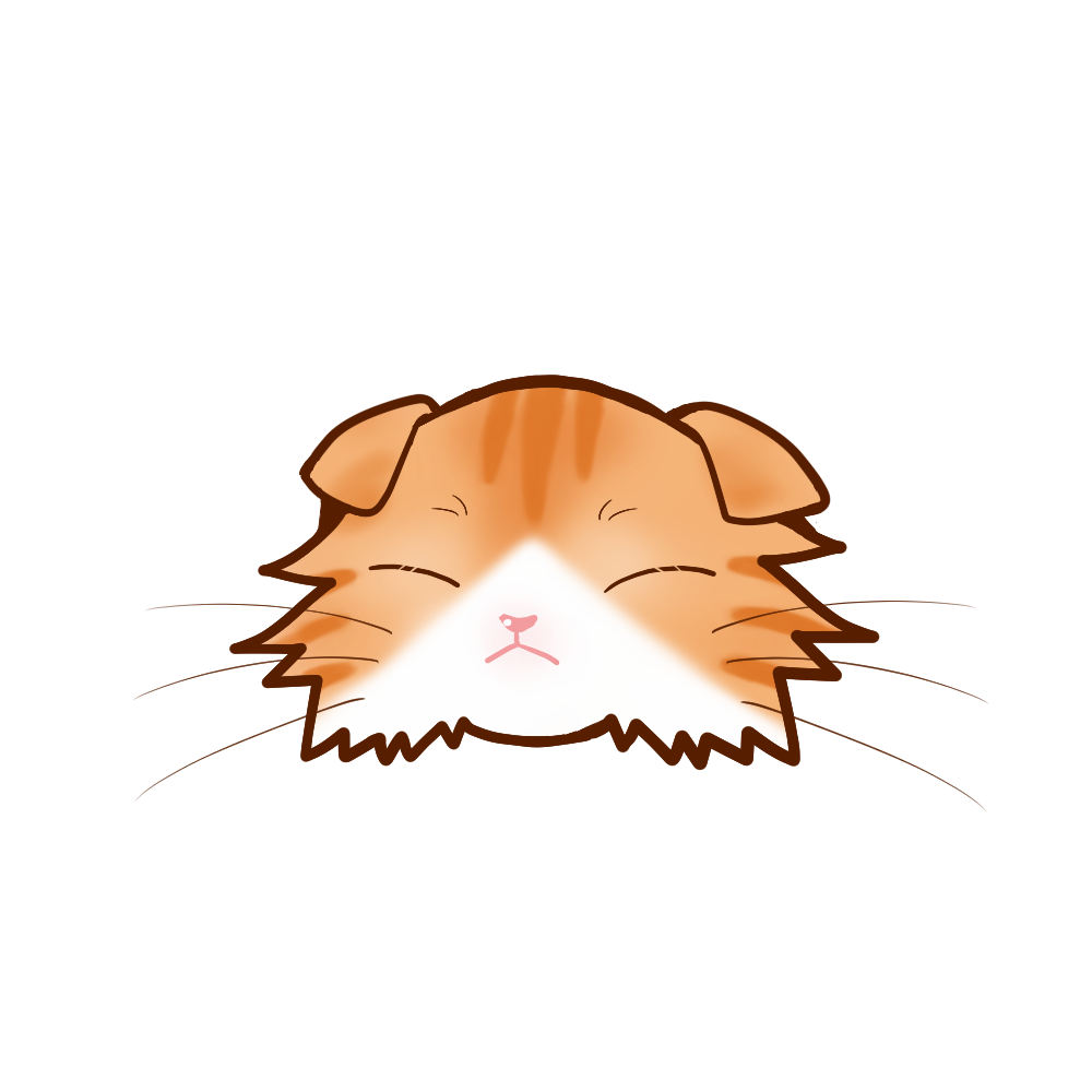 猫イラストまんじゅうスコロングレッドタビー&ホワイトB