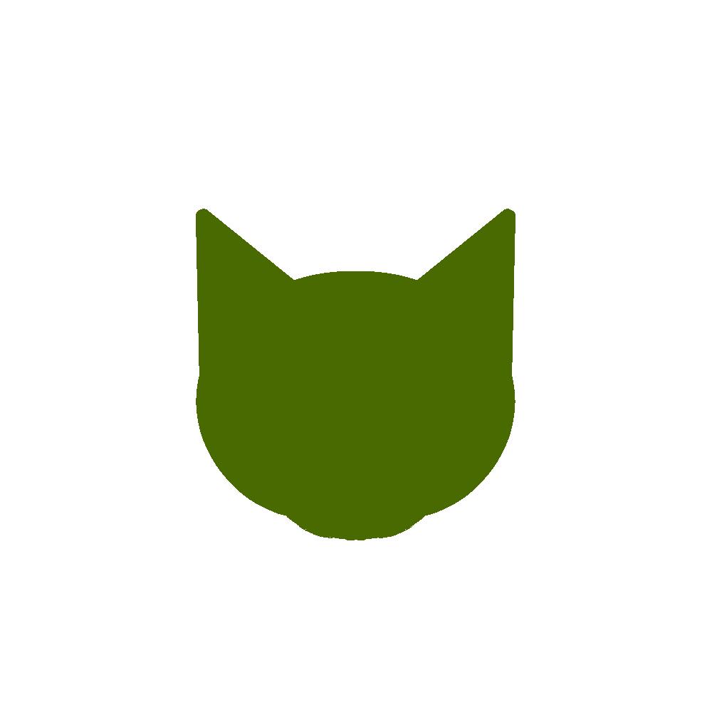顔シルエット正面1グリーン