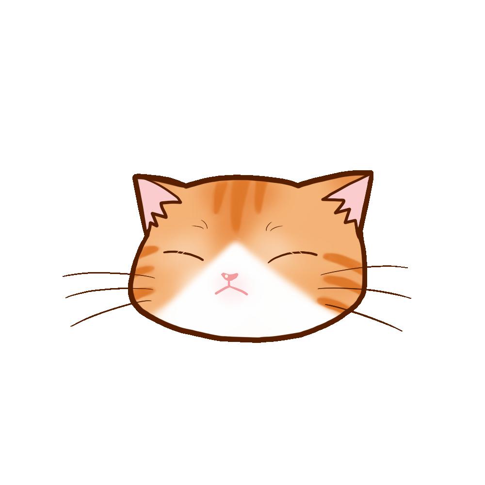 猫イラストまんじゅう茶白B