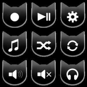 アイコンボタンセット2ブラック