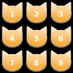 アイコンボタンセット7パステルオレンジ