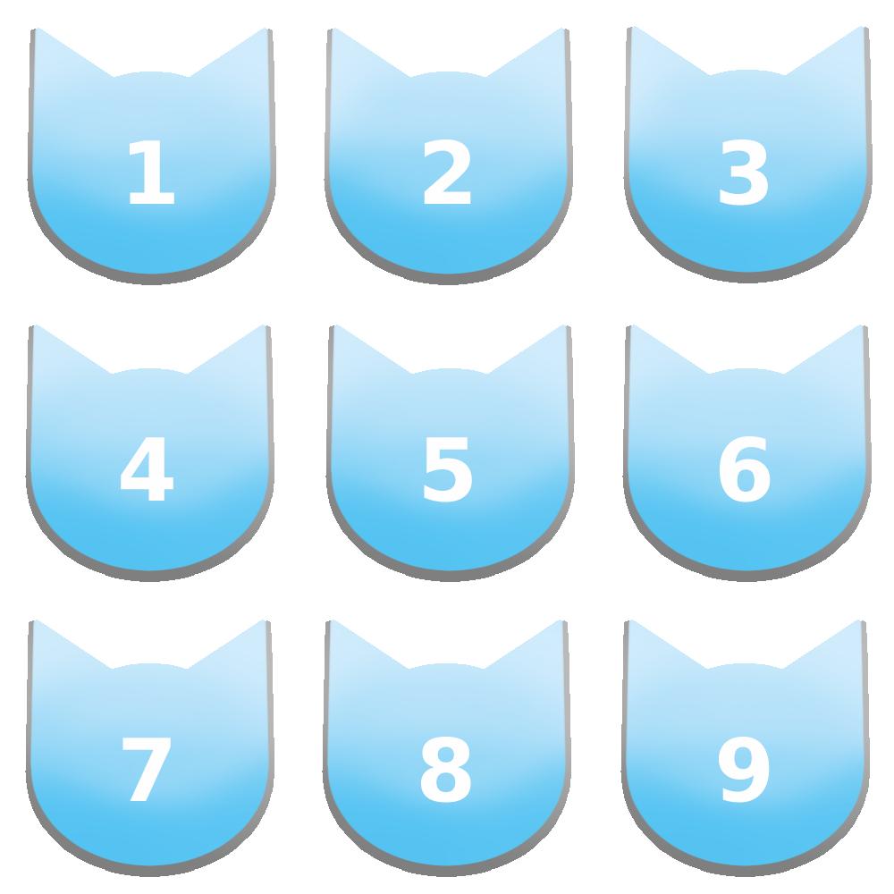 アイコンボタンセット7パステルブルー