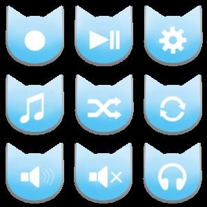アイコンボタンセット2パステルブルー