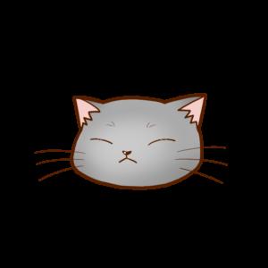 猫イラストまんじゅうグレーB