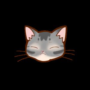猫イラストまんじゅうアビブルーB