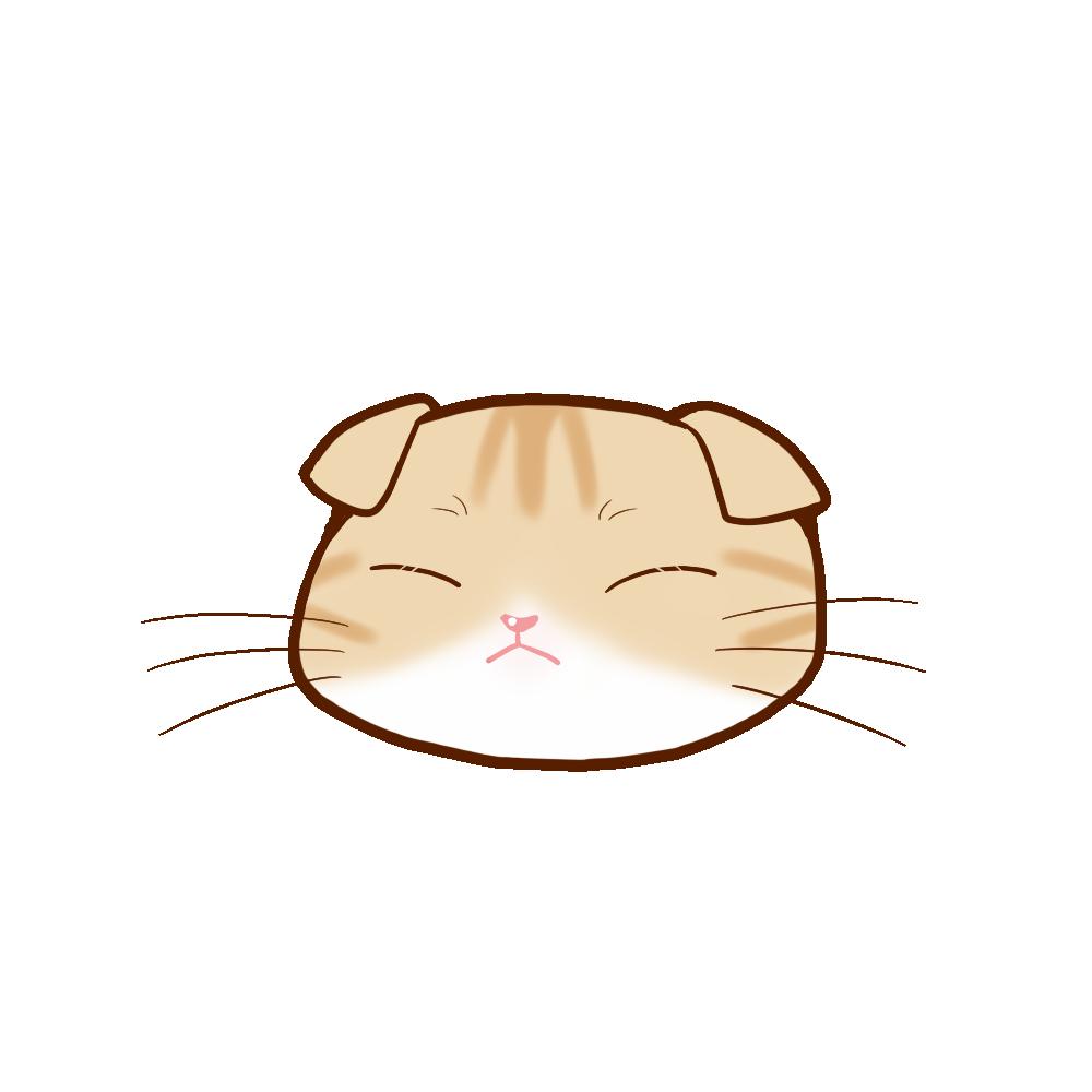 猫イラストまんじゅうスコクリームタビー&ホワイトB
