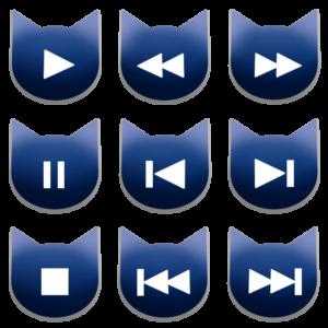 アイコンボタンセット1ネイビー-cat icon button navy-
