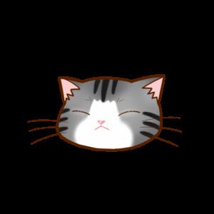 猫イラストまんじゅうサバ白B
