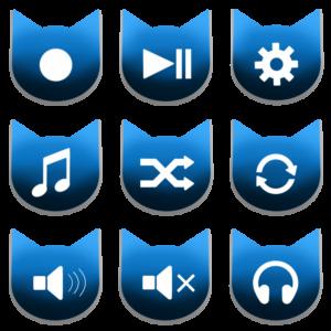 アイコンボタンセット2ブルー