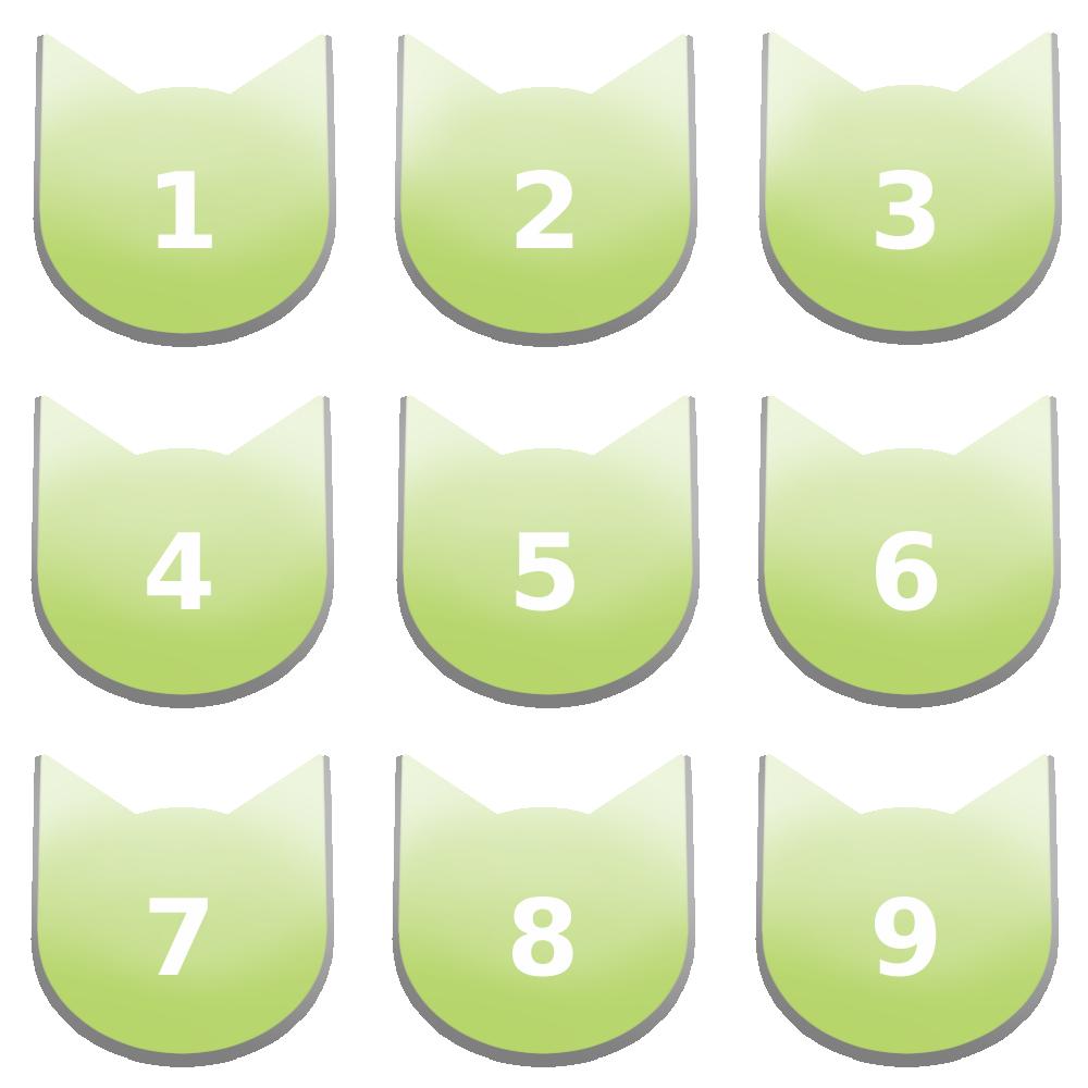 アイコンボタンセット7パステルグリーン