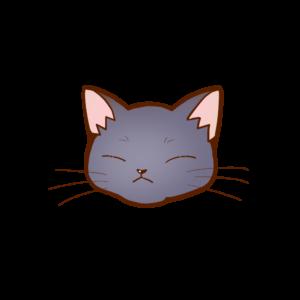 猫イラストまんじゅうロシアンブルーB