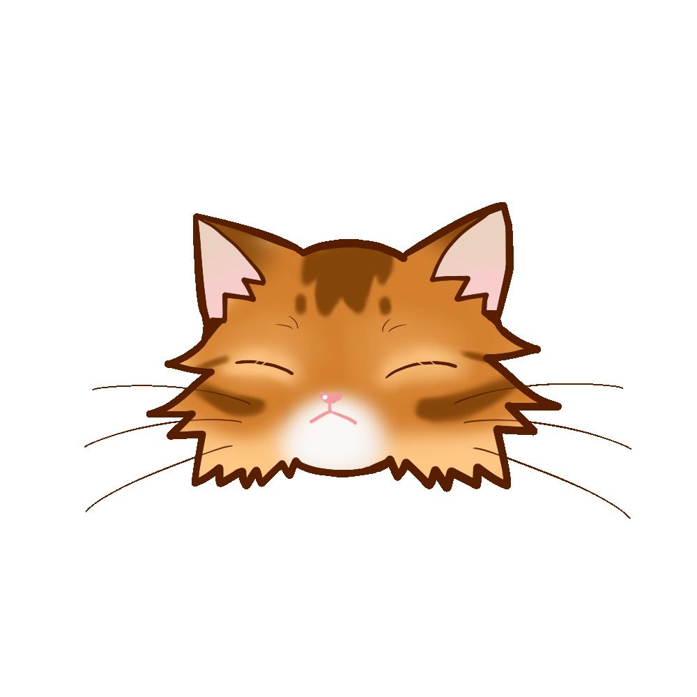 猫イラストまんじゅうソマリレッドB