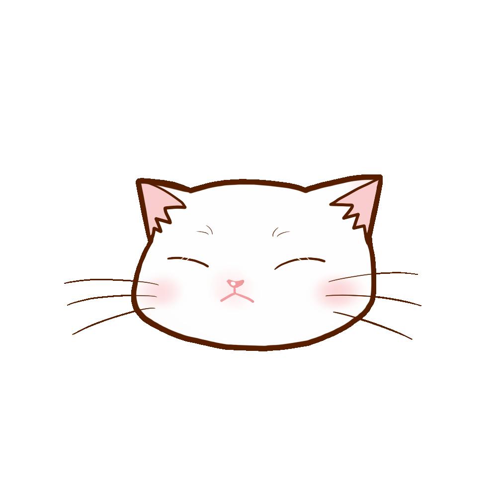 猫イラストまんじゅう白B