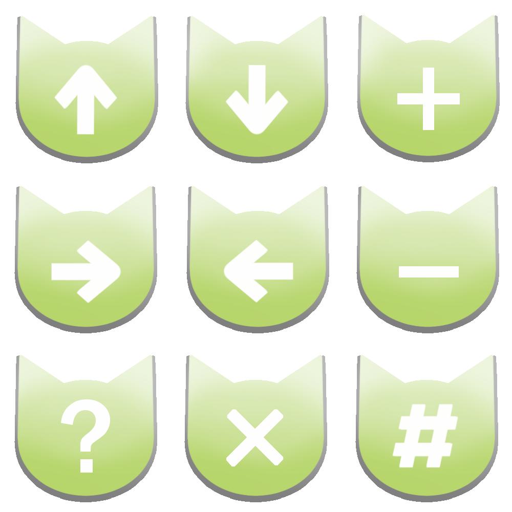 アイコンボタンセット5パステルグリーン