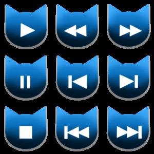 アイコンボタンセット1ブルー