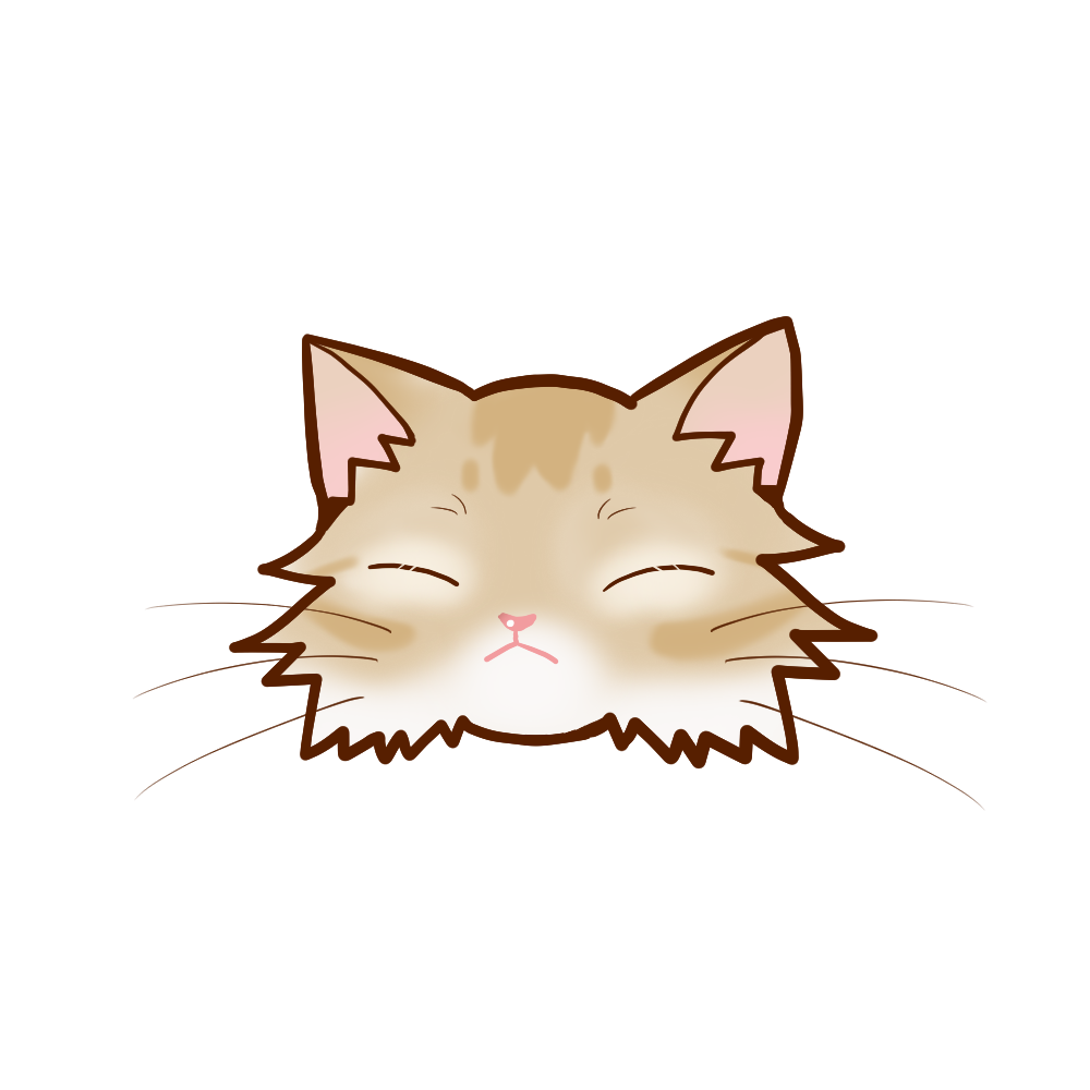 猫イラストまんじゅうソマリフォーンB