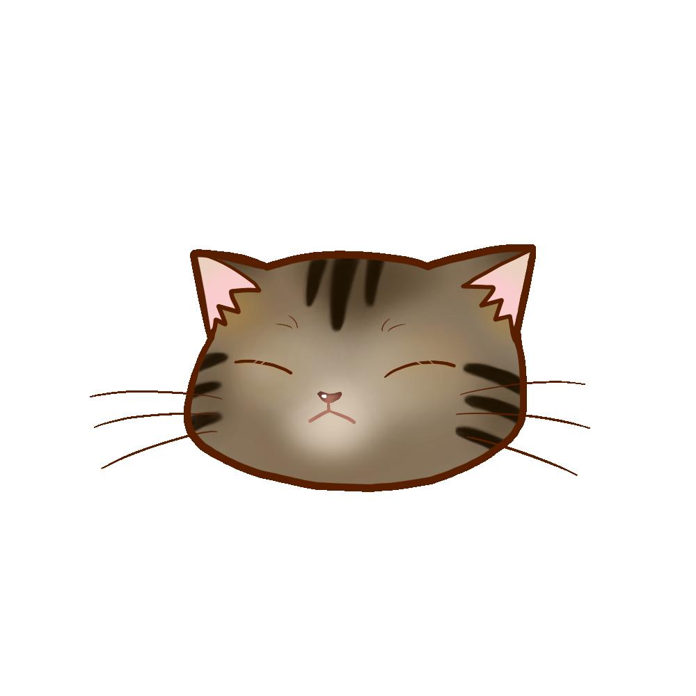 猫イラストまんじゅうキジトラB