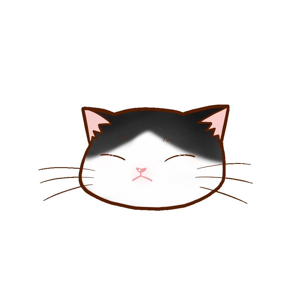 猫イラストまんじゅうハチワレB