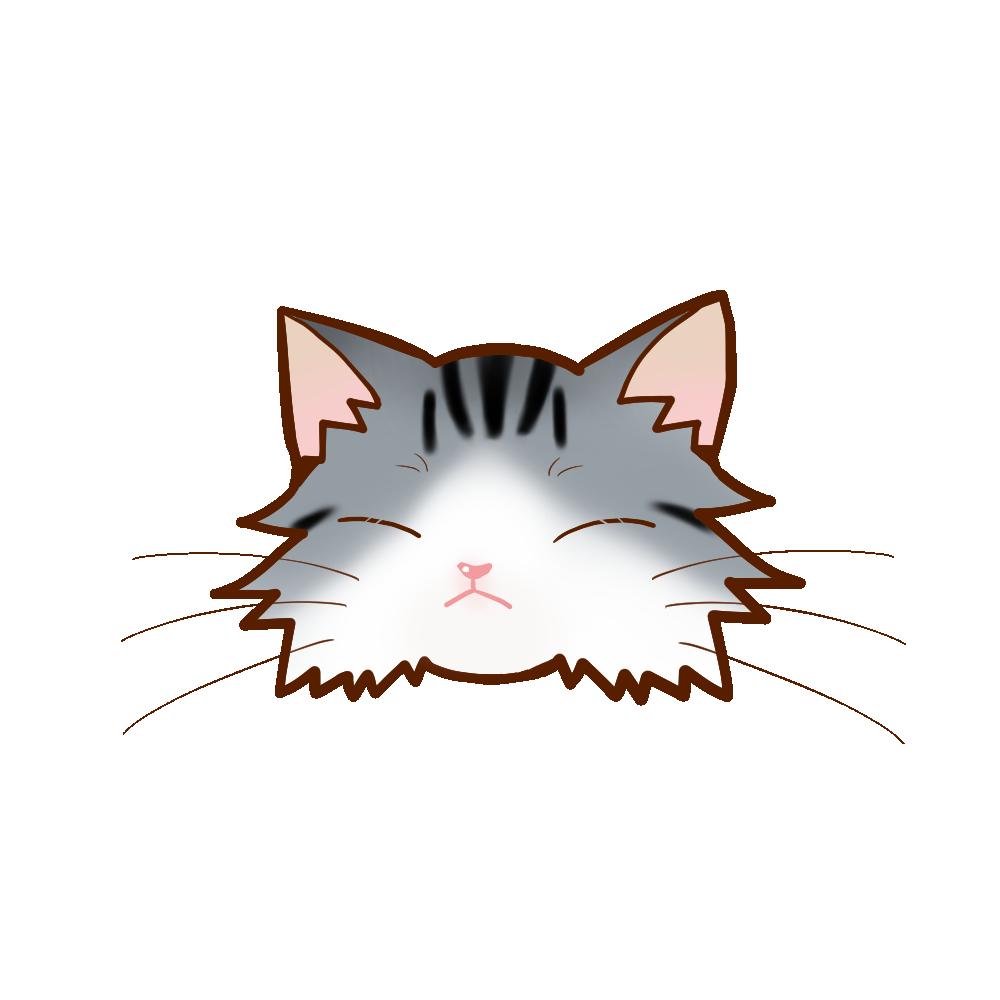 猫イラストまんじゅうノルシルバータビー&ホワイトB