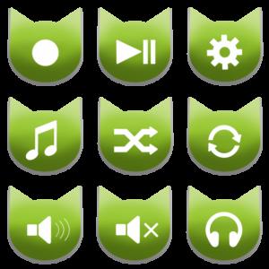 アイコンボタンセット2グリーン