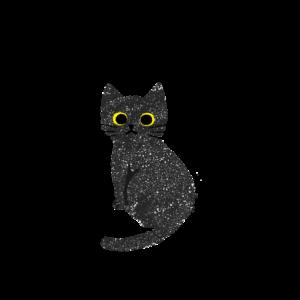 がさがさタッチふりむく猫1黒
