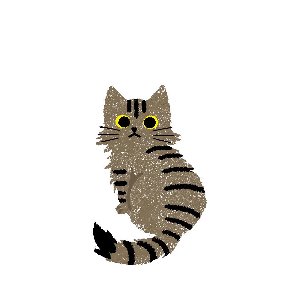 がさがさタッチふりむく猫2キジトラ