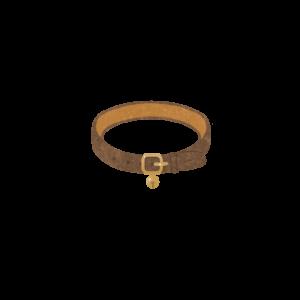 鈴のついた首輪ブラウン
