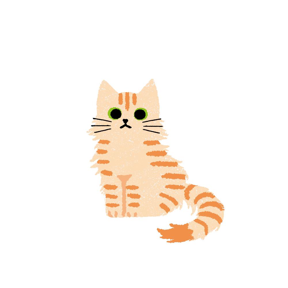 がさがさタッチおすわり猫2クリームタビー