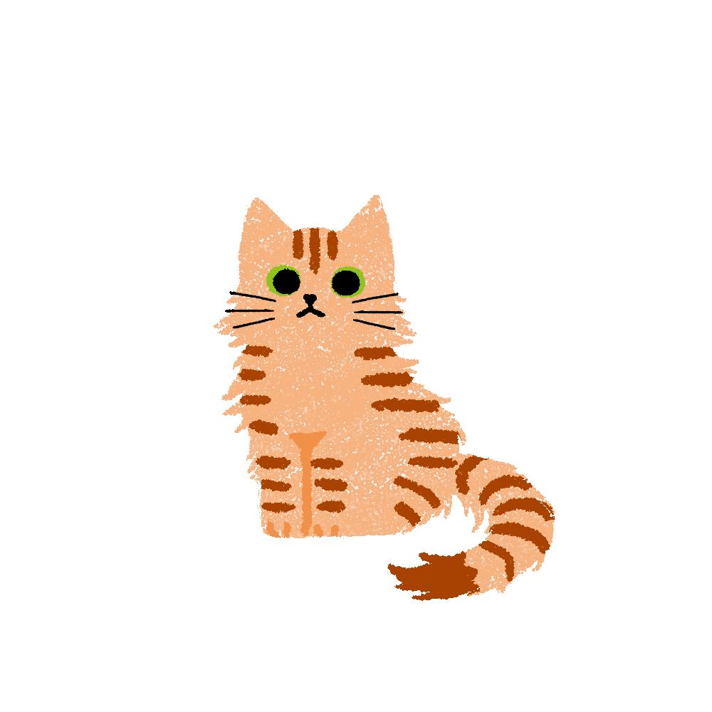 がさがさタッチおすわり猫2茶トラ