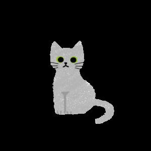 がさがさタッチおすわり猫1グレー