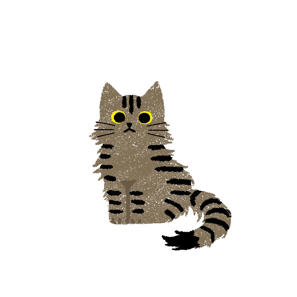 がさがさタッチおすわり猫2キジトラ