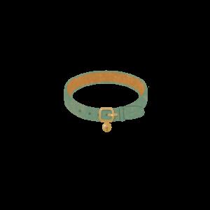鈴のついた首輪グリーン