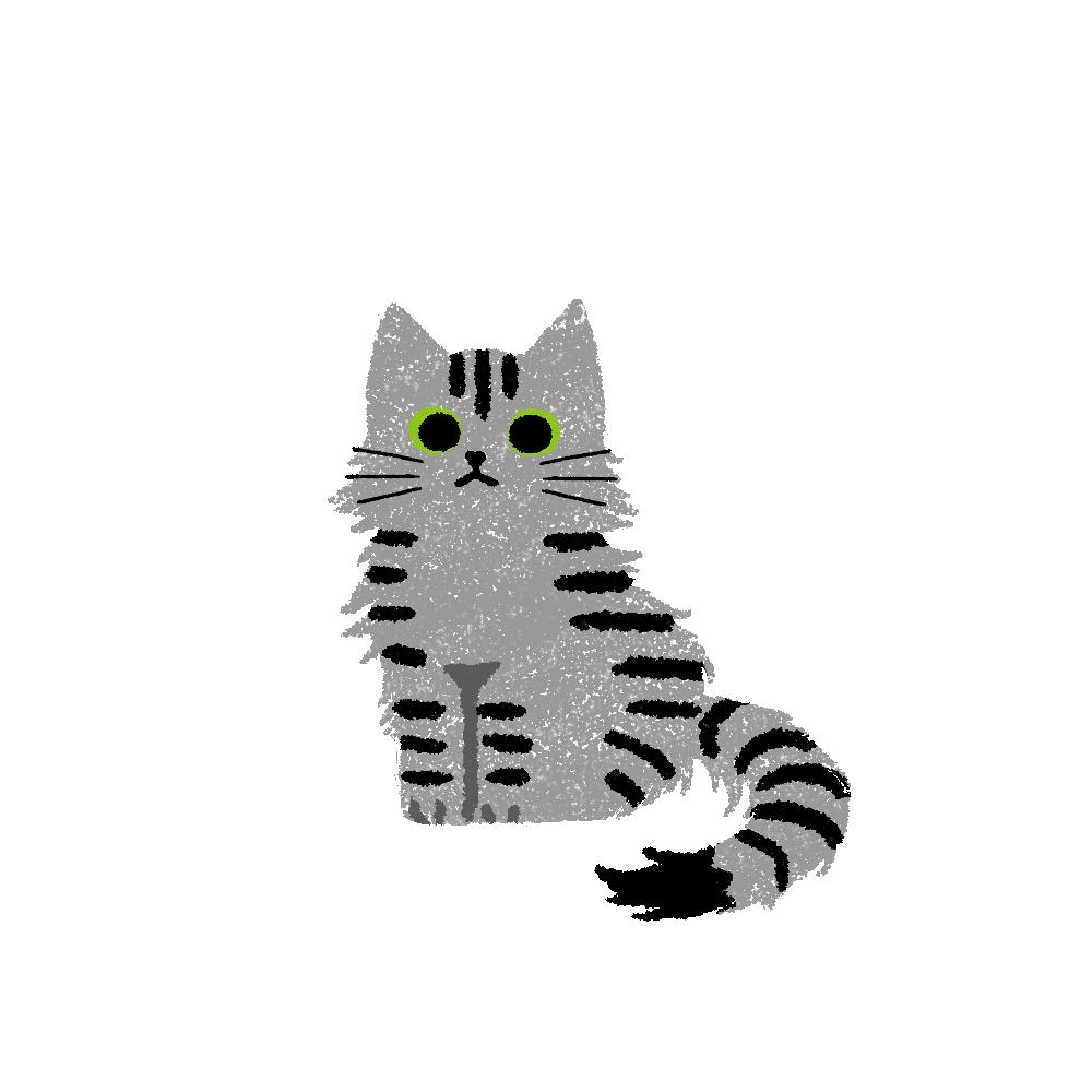 がさがさタッチおすわり猫2サバトラ