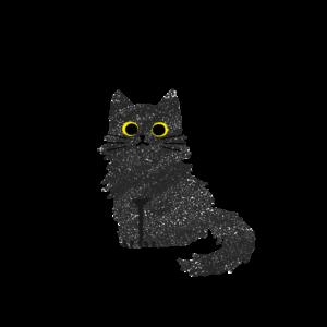 がさがさタッチおすわり猫2黒