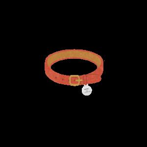 迷子札のついた首輪レッド-Cat collar with id tag red-