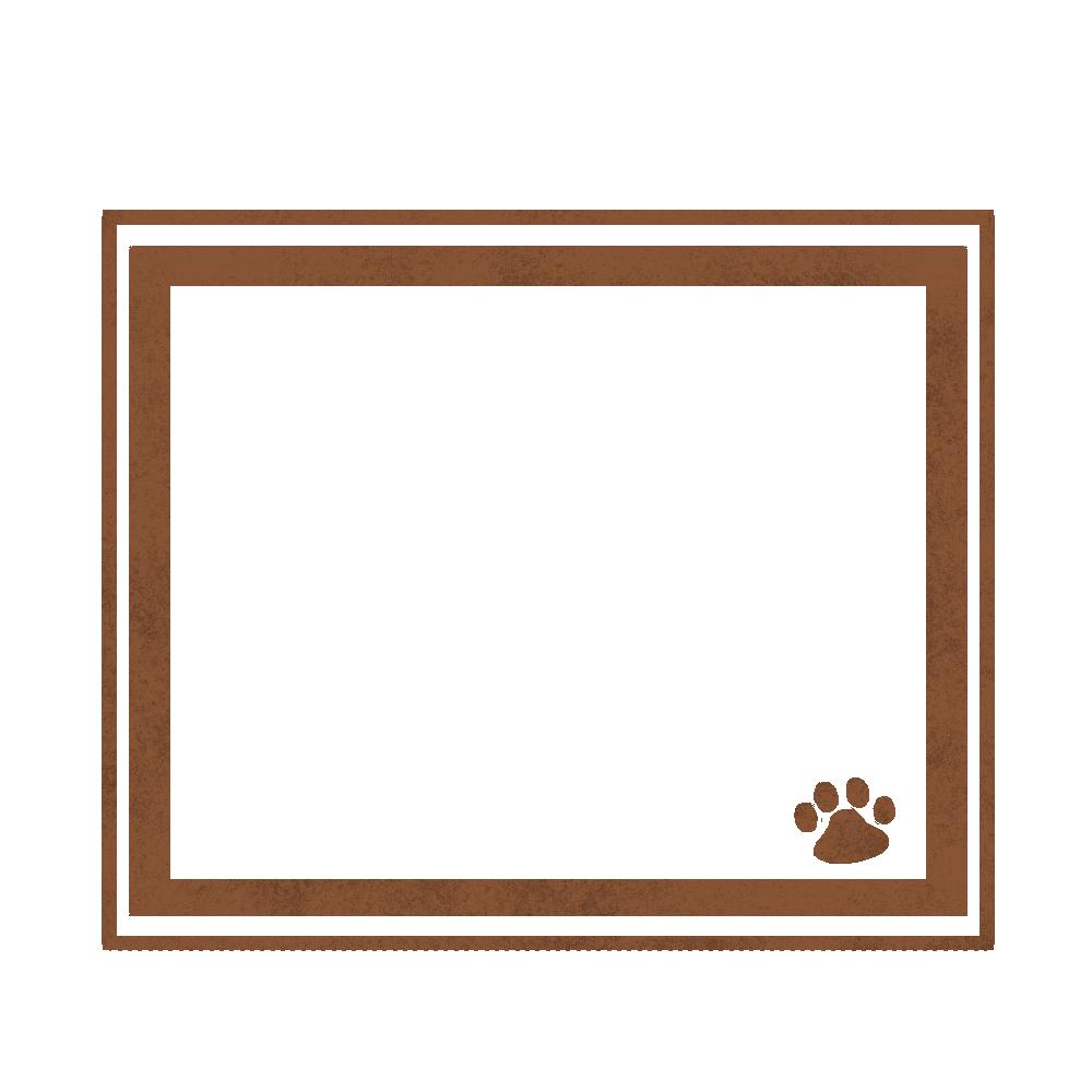 シンプルラインと猫の肉球フレームブラウン