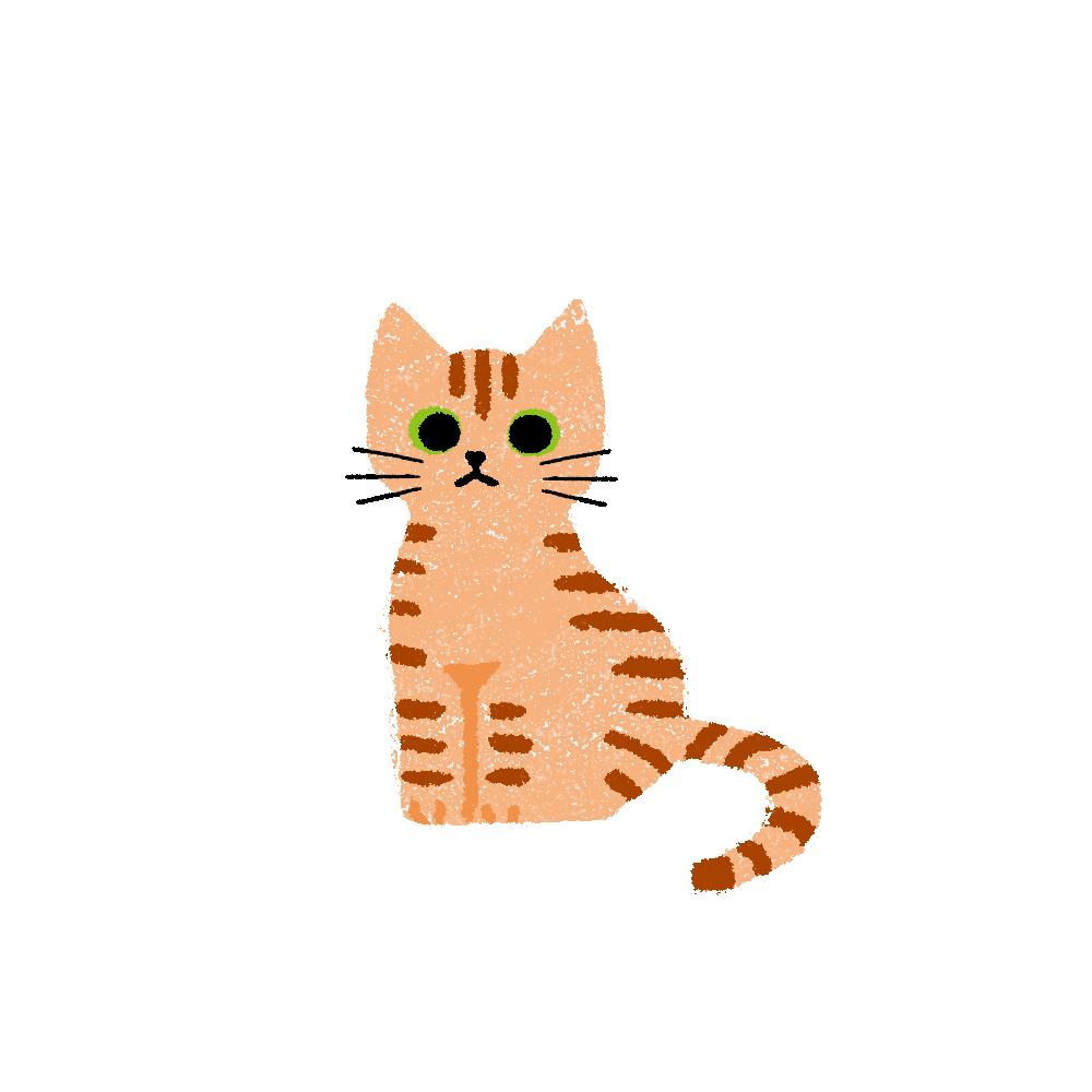 がさがさタッチおすわり猫1茶トラ