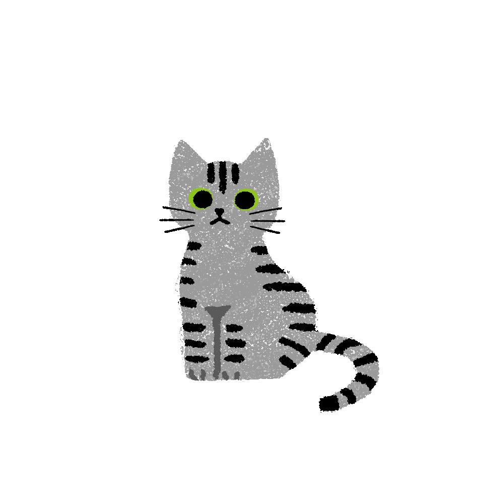 がさがさタッチおすわり猫1サバトラ
