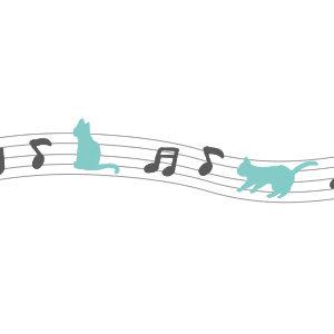 音符と猫のライングレー×ブルー