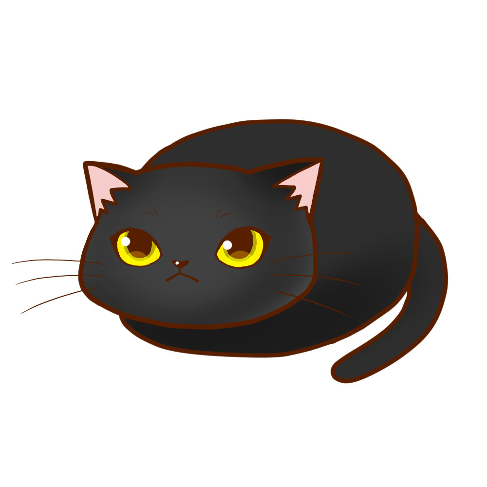 まんじゅう黒全身A-Manju cat black whole body A-