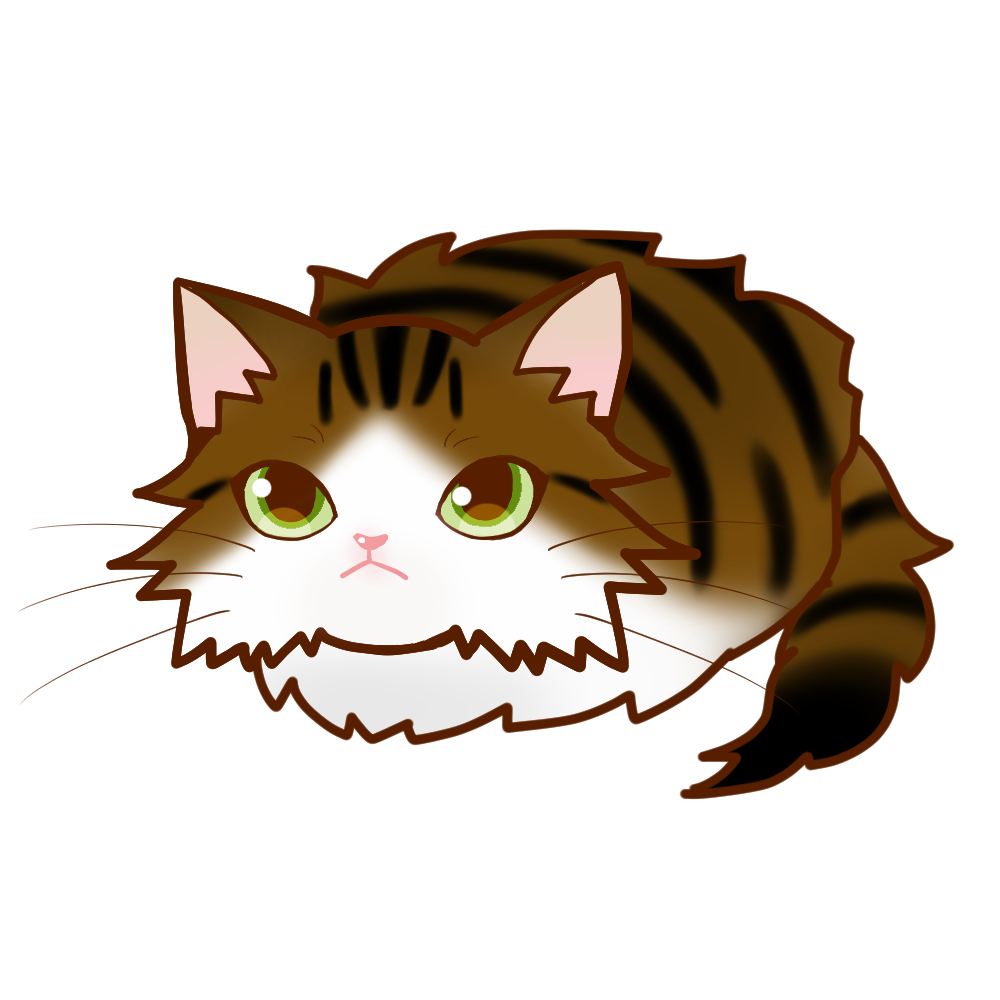 まんじゅうノルブラウンタビー&ホワイト全身A-Manjyu cat nor-browntabby-white whole body A-