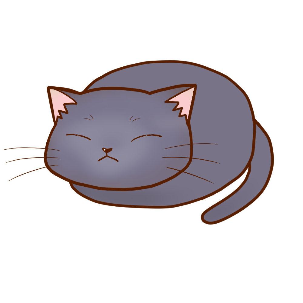 まんじゅうシャルトリュー全身B-Manju cat chartreux whole body B-