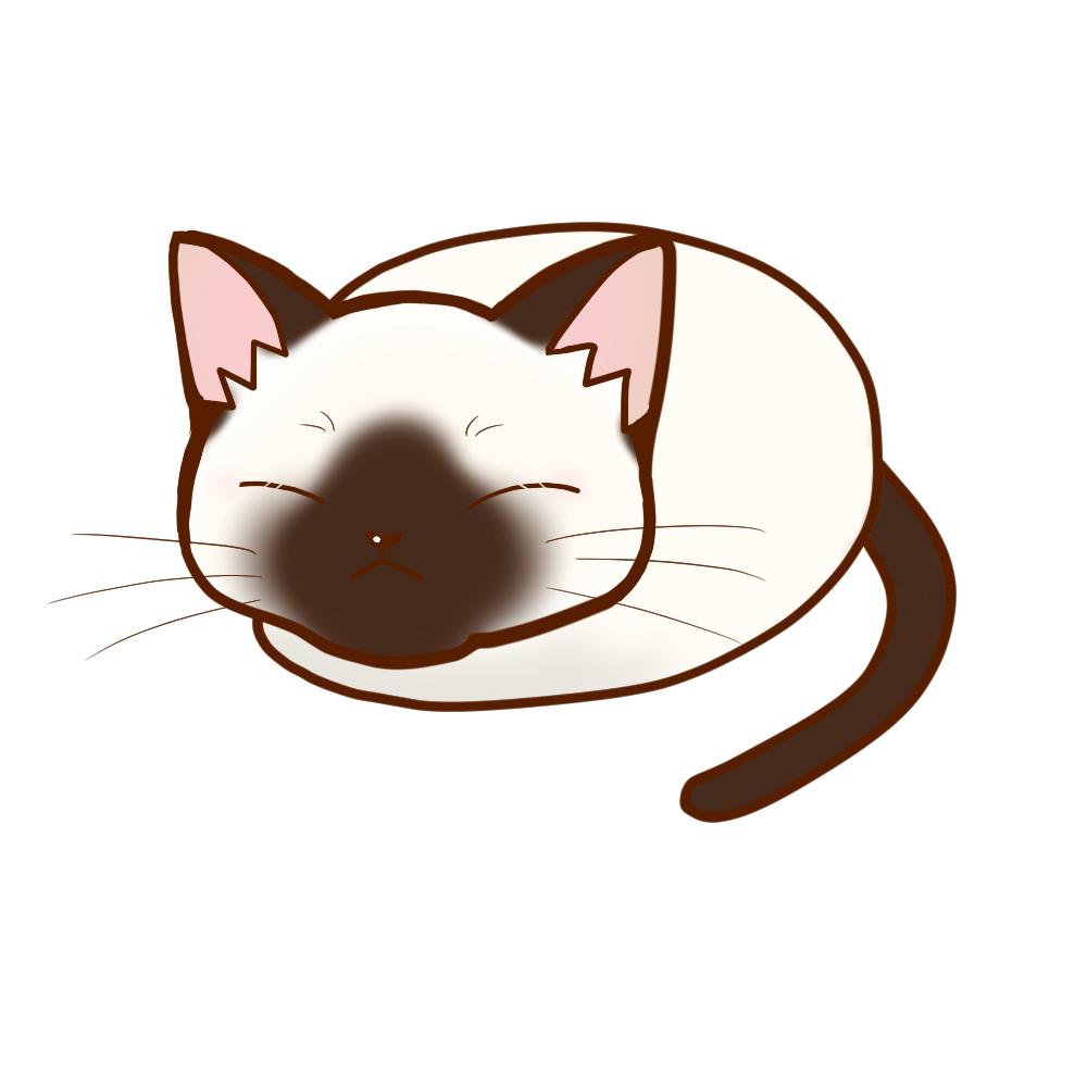 まんじゅうシャム全身B-Manju cat siamese whole body B-