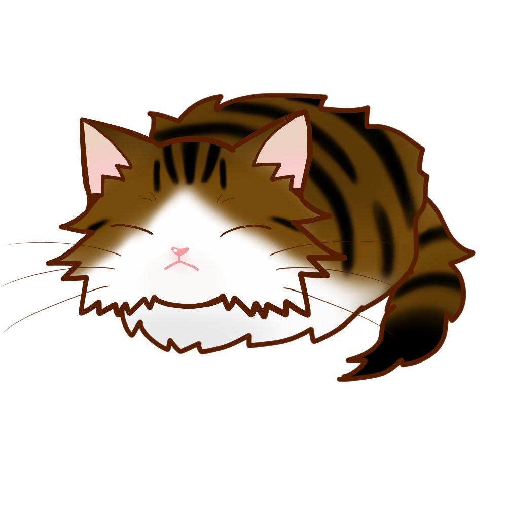 まんじゅうノルブラウンタビー&ホワイト全身B-Manjyu cat nor-browntabby-white whole body B-