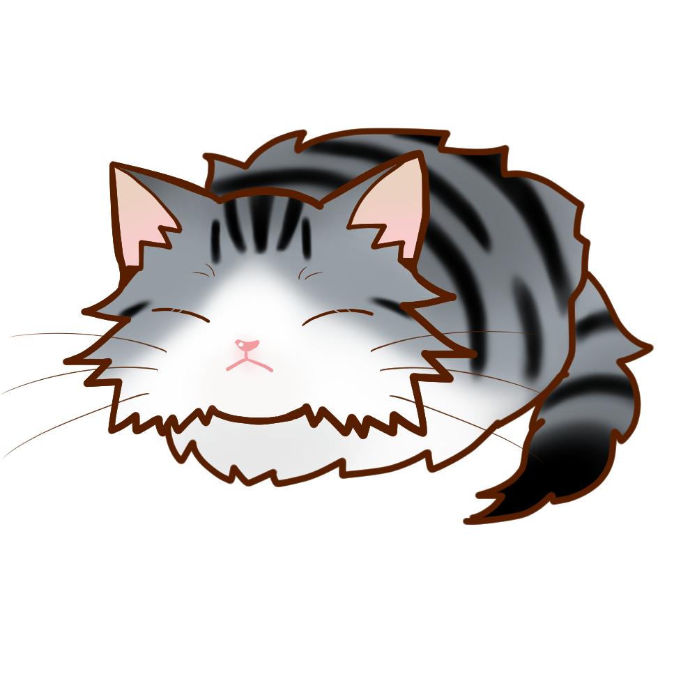 まんじゅうノルシルバータビー&ホワイト全身B-Manjyu cat nor-silvertabby-white whole body B-