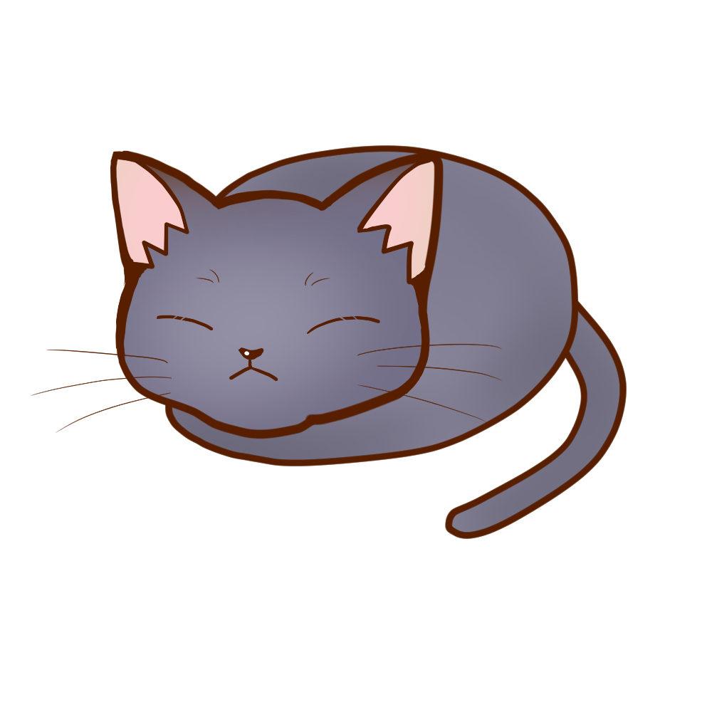 まんじゅうロシアンブルー全身B-Manju cat russianblue whole body B-