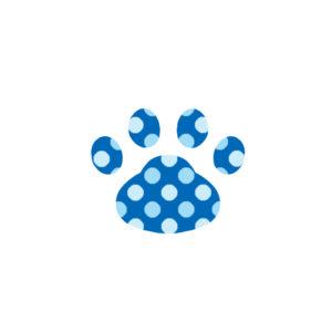 -dot-paw-pad-blue-ドット肉球足跡ブルー
